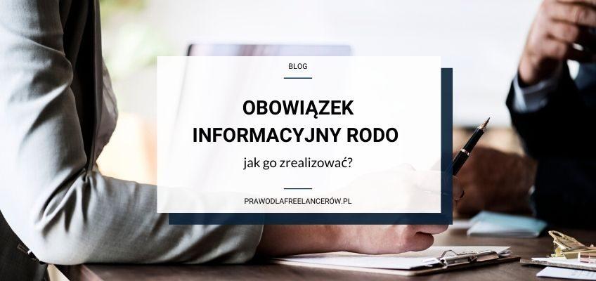 Obowiązek informacyjny RODO – jak go zrealizować?
